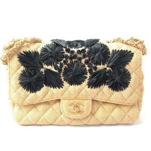 Chanel Limited Edition Classic Jumbo Toile Bag